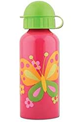 Stephen Joseph Butterfly Stainless Steel Water Bottle, Hot Pink/Bright Green