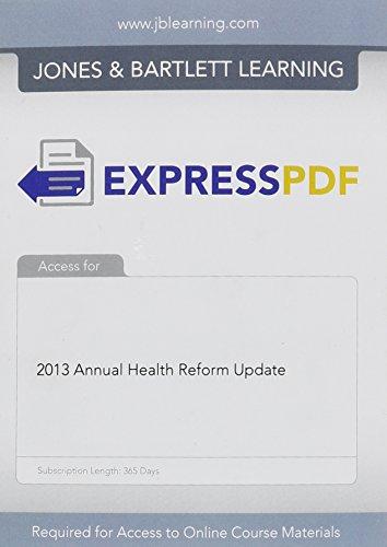2013 Annual Health Reform Update