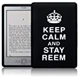 AMAZON KINDLE 4 KEEP CALM AND STAY REEM LASERED SILICONE CASE / SKIN / COVER / SHELL - BLACK/WHITEby TERRAPIN