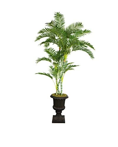 "Laura Ashley 86"" Palm Tree in a 16"" Fiberstone Planter"