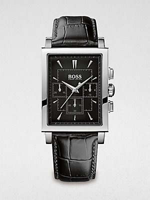 Hugo Boss Men's Slim Ultra Rectangular Chronograph Watch 1512849
