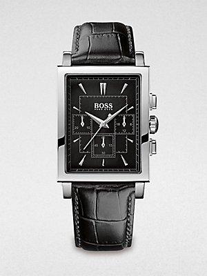 Hugo Boss Men's Slim Ultra Rectangular Chronograph Watch 1512849