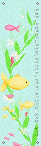 Oopsy Daisy Growth Charts Under The Sea Girl by Meghann O'Hara, 12 by 42-Inch
