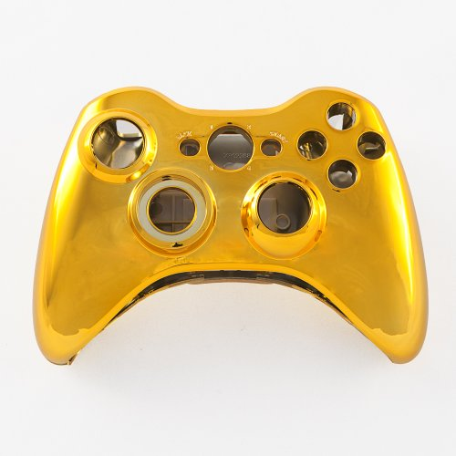 Gold Chrome XBOX 360 Controller Shell & Battery Pack