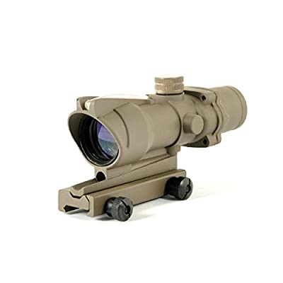 Woltis ACOG Style 4x32 Optical Rifle Scope With Real Red Optic Fiber and TA51 Flattop Mount from Woltis