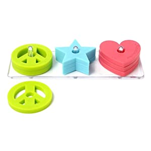 Chewbeads Stack and Play Teethers - Peace, Love, Star