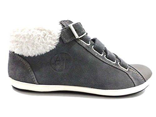 scarpe donna ARMANI JEANS 36,5 sneakers grigio camoscio WH284