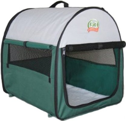 Go Pet Club Soft Crate For Pets, 18-Inch, Green