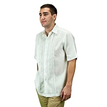 Mens wedding attire shirt for beach wedding, white.