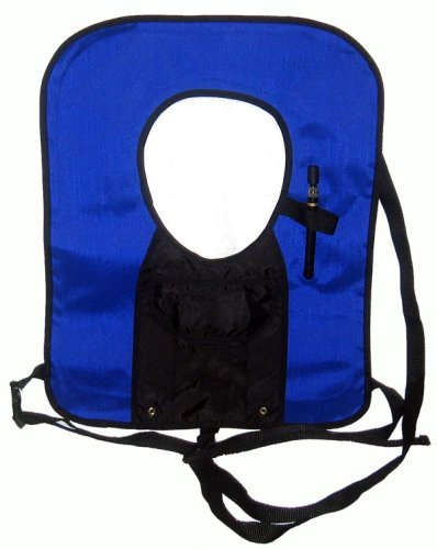 New! Blue Snorkel Vest with attached pocket