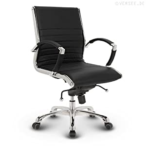 Versee Leder Design Drehstuhl Bürostuhl Montreal Low Back schwarz  Kundenberichte und weitere Informationen