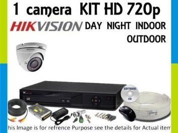 Hikvision 4 Channel DVR 1 CCTV Camera Kit at amazon