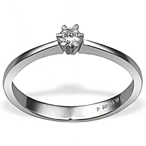 Goldmaid - So R3986WG52 - Bague Femme - Or blanc 585/1000 (14 ct) 2.5 Gr - Diamant 0.1 ct - T 52