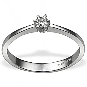 Goldmaid - So R3986WG54 - Bague Femme - Or blanc 585/1000 (14 ct) 2.5 Gr - Diamant 0.1 ct - T 54