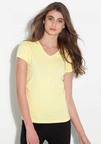Bella Juniors V-Neck T-Shirt (1005) Tee Medium Red