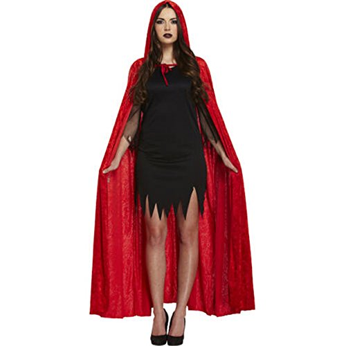 Nantonin TM Adult Cloak, Halloween Theater Costume Cloak with Hood Long Cape Red