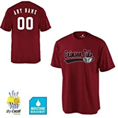 CUSTOM Alabama Crimson Tide NCAA Officially Licensed Cool-Base Replica Jersey Shirts (3 Styles, Youth/Adult Sizes)