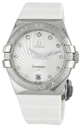 Omega Women's 123.12.35.60.52.001 Constellation L White Guilloche Dial Watch