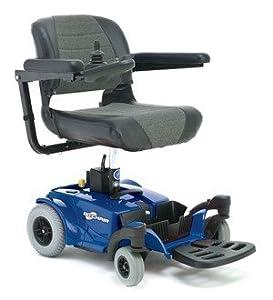 Pride Go-Chair Travel Power Wheelchair, Blue