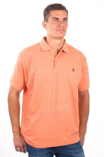 U.S.Polo Assn. men's Poloshirt Pique Coral USP1089, size:L