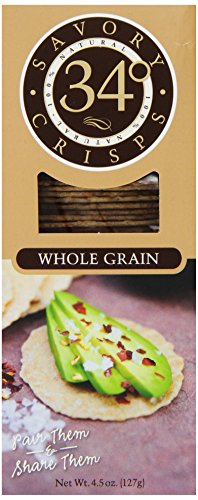 34 Degrees Whole Grain Crisps, 4.5 Ounce Boxes (Pack Of 6)