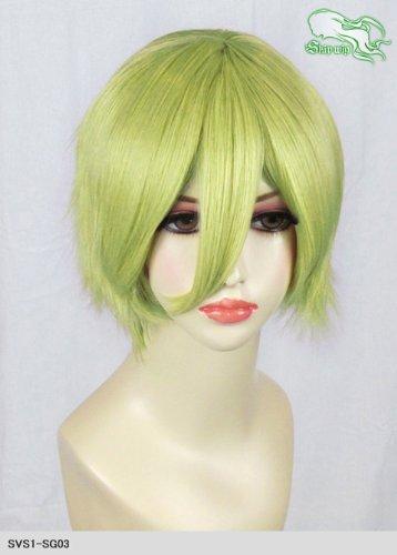 スキップウィッグ 魅せる シャープ 小顔に特化したコスプレアレンジウィッグ マニッシュショート スプリンググリーン