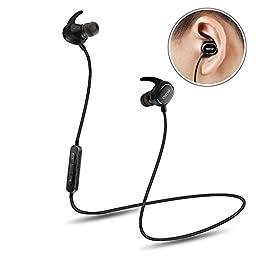 Wireless Headphone, QCY QY19 Wireless Sport Headset Ultra Lightweight Bluetooth 4.1 CVC 6.0 Noise Cancelling IPX4 Sweatproof