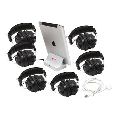 Califone 1206i-06, 6 Position iPad Jackbox & Listening Center, works with (iOS and Android based) smartphones and tablets (Listening Center Califone compare prices)