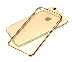Vibhar Plain Transparent Soft Flexible Silicon TPU Slim Back Case Cover for Apple iPhone 7 - Golden