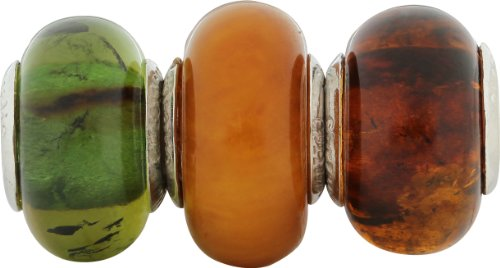 Chrysalis, 92.5 Sterling Silver, Three Baltic Amber Bead, Mixed Colour Box Set