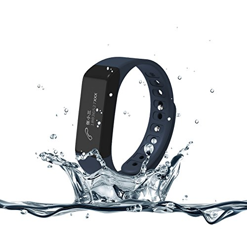 007plus I5 Plus Fitness Tracker Health Sleep Monitor Pedometer Activity Tracker Wristband, Dark Blue