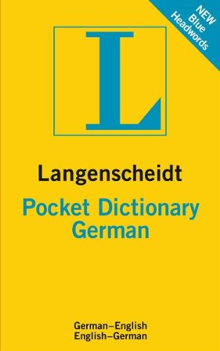 Langenscheidt Pocket Dictionary German: German-English / English-German
