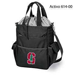 Stanford Cardinal Activo Insulated Waterproof Tote Bag - Black w/Digital Print