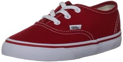 Vans Unisex-Child K Authentic Trainers, Red,  2.5 UK (34.5 EU)