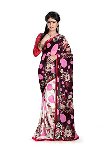 Yashoda Textile Multi Color Chiffon Printed And Border Work Sarees With Un-Stitched Blouse Piece (Y.S_690_Multi)