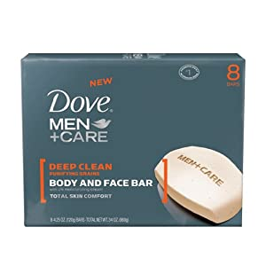 Dove Men and Care Body and Face Bar, 8 Count (4.25 Ounce Each)