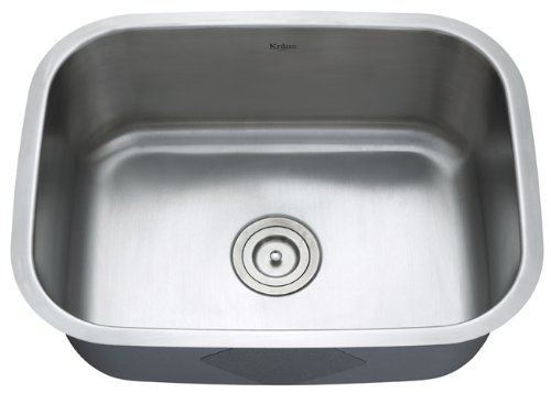 Review Of Kraus 23 inch Undermount Single Bowl 16 gauge Stainless Steel Kitchen Sink