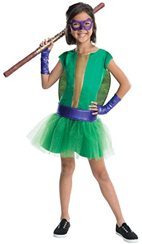 Rubies Teenage Mutant Ninja Turtles Deluxe Donatello Tutu Dress Costume, Child Medium (Girls Ninja Turtle Costume compare prices)