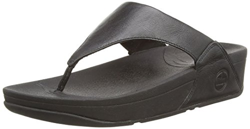 FitFlop Women's Lulu Thong Sandal,Black,6 M US (Fitflop compare prices)