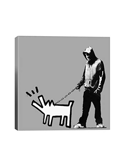 Banksy Choose Your Weapon Keith Haring Dog Gallery Wrapped Canvas Print