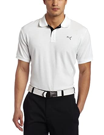 Puma Golf Men's Golf Transdry Pique Polo (White, Medium)