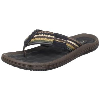 Rider Men's Cayman II Thong Sandal,Black/Brown,7 M US