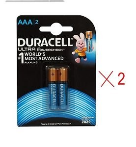 Duracell AAA Ultra PowerCheck Long Lasting Alkaline Batteries Pack Of 4