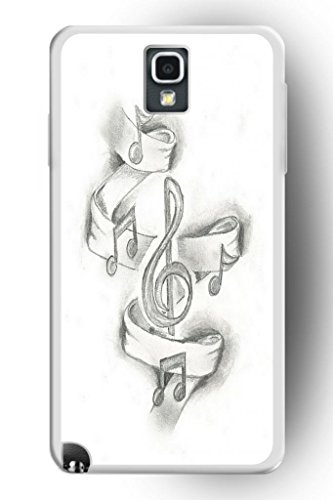 Sprawl Beautiful Vintage Design Hard Shell For Samsung Galaxy Note 3 Hard Plastic Back Case For Women -- Dancing Music