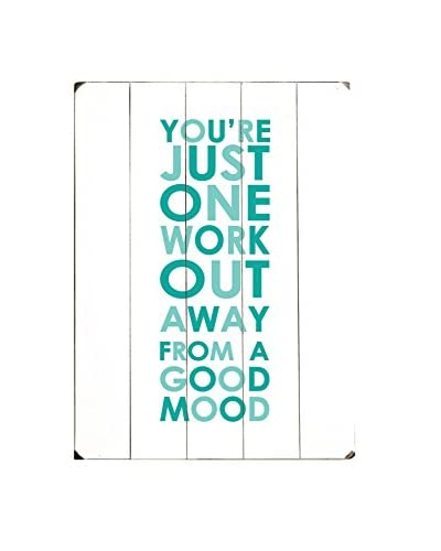 ArteHouse One Workout Away Wood Wall Sign