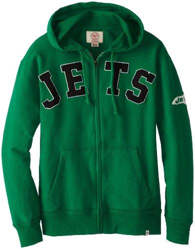 Hot NFL New York Jets Men's Striker Full Zip Jacket, Large, Kelly