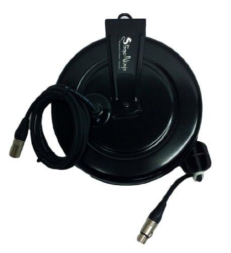 Stage Ninja Xlr-60S Dual Shield Premium Retractable Xlr Cable System With Female Retractable End For Microphone Applications, 60-Foot