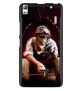 PRINTSWAG SHOOTER MAN Designer Back Cover Case for LENNOVO A7000 PLUS
