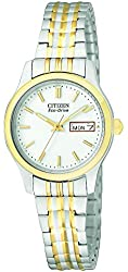 Citizen Women's EW3154-90A Stainless Steel Eco-Drive Watch with Expansion Band