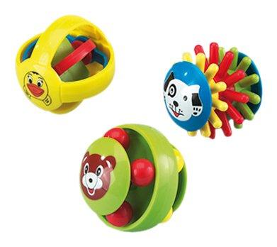 Happy People 40906 Funny-Ball - Pelotas de plástico con formas divertidas (3 unidades) [importado de Alemania]